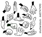 cartoon hands with gloves icon... | Shutterstock .eps vector #660747490