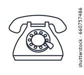 telephone call communication... | Shutterstock .eps vector #660757486