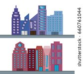 beautiful city with building... | Shutterstock .eps vector #660761044