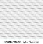 white seamless geometric... | Shutterstock .eps vector #660763813