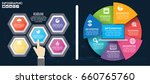 infographic template design and ... | Shutterstock .eps vector #660765760