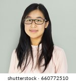 young adult asian girl smiling... | Shutterstock . vector #660772510