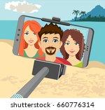 selfie photo of friends banners ... | Shutterstock .eps vector #660776314