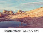 hike in the utah mountains | Shutterstock . vector #660777424