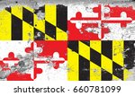 the flag of maryland | Shutterstock . vector #660781099