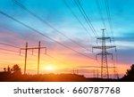 electricity tower | Shutterstock . vector #660787768