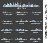 united states largest cities... | Shutterstock .eps vector #660789898