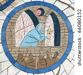 Saint Clare Of Assisi  Mosaic...