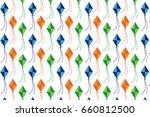 colorful kites vector modern...   Shutterstock .eps vector #660812500