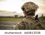 us army soldier in the mission | Shutterstock . vector #660813538