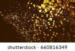 gold glitter particles... | Shutterstock . vector #660816349
