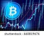 bit coin chart | Shutterstock .eps vector #660819676