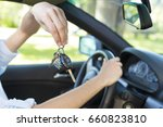 hands of the driver with the... | Shutterstock . vector #660823810