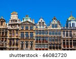 Guildhalls on the Grand Place, Brussels, Belgium.