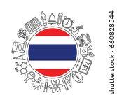 vector  thailand school... | Shutterstock .eps vector #660828544
