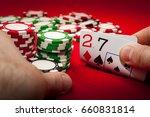 bad poker gamble or unlucky...   Shutterstock . vector #660831814