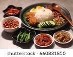 nasi lemak is a malay fragrant... | Shutterstock . vector #660831850