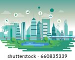 sustainable city | Shutterstock .eps vector #660835339