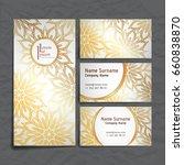 set of vector design templates. ... | Shutterstock .eps vector #660838870