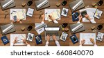 composition  set  pictures of... | Shutterstock . vector #660840070