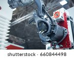 arm of the robot in factory | Shutterstock . vector #660844498