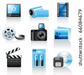 photo and video icons | Shutterstock .eps vector #66084679