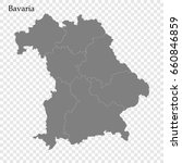 high quality map of bavaria is... | Shutterstock .eps vector #660846859