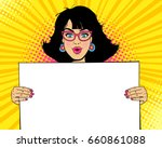 wow female face. young sexy... | Shutterstock .eps vector #660861088