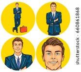 vector illustration  mens pop... | Shutterstock .eps vector #660861868