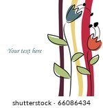 vector background with flowers.   Shutterstock .eps vector #66086434