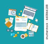 tax payment concept. state... | Shutterstock .eps vector #660866188