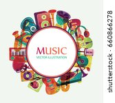 colorful music background.... | Shutterstock .eps vector #660866278