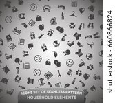 Icons Set Of Seamless Pattern ...