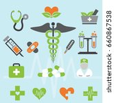 aid care clinic collection | Shutterstock .eps vector #660867538