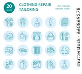 clothing repair  alterations... | Shutterstock .eps vector #660869278