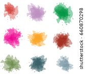 colorful vector splashes   blot.... | Shutterstock .eps vector #660870298