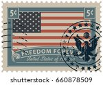 postage stamp with inscriptions ... | Shutterstock .eps vector #660878509