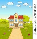 cartoon elementary school...   Shutterstock .eps vector #660880486