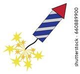 4th of july rocket | Shutterstock .eps vector #660889900