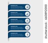 modern infographic timeline...   Shutterstock .eps vector #660892000