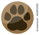 paw button | Shutterstock .eps vector #660892090