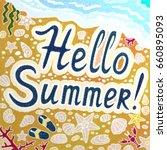 illustration texture of summer... | Shutterstock . vector #660895093
