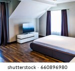 furnished master bedroom in new ... | Shutterstock . vector #660896980