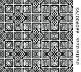 endless black and white... | Shutterstock .eps vector #660900793