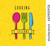cooking lessons flat | Shutterstock .eps vector #660900928