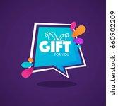 gift for you  web banner looks...   Shutterstock .eps vector #660902209