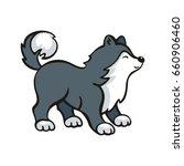 funny husky dog. vector...   Shutterstock .eps vector #660906460