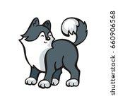 funny husky dog. vector... | Shutterstock .eps vector #660906568