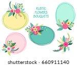 cute vintage elements as rustic ... | Shutterstock . vector #660911140