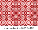 seamless white embroidered...   Shutterstock .eps vector #660924130